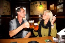 Free porn pics of Old couple seduce desperate teen in the bar! 1 of 37 pics