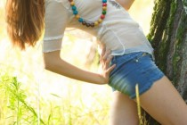 Free porn pics of Outdoor Teens - TATO - Small Tits in the Forest 1 of 47 pics