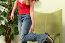 Free porn pics of Svetlana - hairy teen in jeans and socks 1 of 140 pics