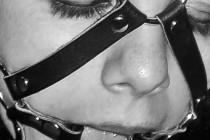 Free porn pics of Black & white headharness & ballgag headshots 1 of 26 pics
