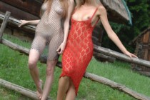 Free porn pics of MA - Irishka and Nora outdoors posing 1 of 92 pics