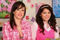 Free porn pics of Ashlyn Rae and Jennifer White teen lesbians decide to take a coc 1 of 644 pics