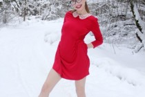 Free porn pics of Girl in winter forest 1 of 10 pics