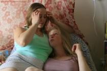 Free porn pics of Lovely lesbians Paula and Chloe  1 of 149 pics